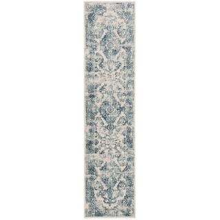 "Safavieh Princeton Vintage Geometric Blue / Beige Polyester Rug - 2'6"" x 4'"