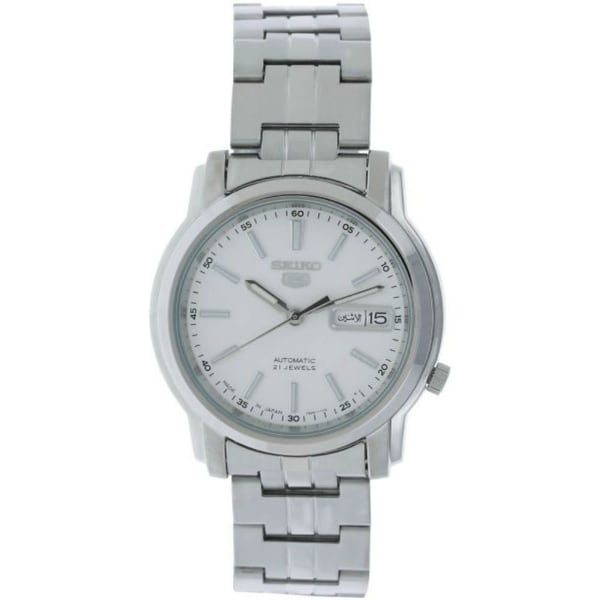 96f697b4f Shop Seiko Men's Series 5 Stainless Steel Automatic Watch SNKL75J1 - Free  Shipping Today - Overstock - 28244968
