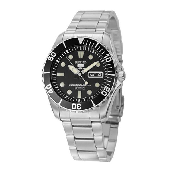 uk availability 78302 c0afa Seiko Men's Series 5 Stainless Steel Automatic Watch SNZF17J1
