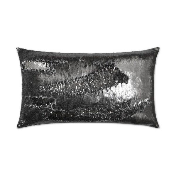 Hylee Lumbar-Pewter 14-inch x 24-inch Feather Down Hidden Zipper Decorative Throw Pillow