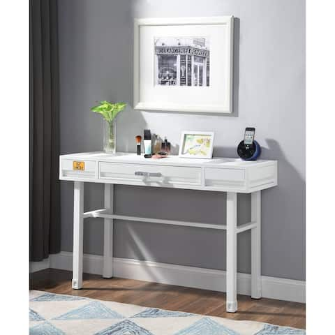 ACME Cargo Vanity Desk in White