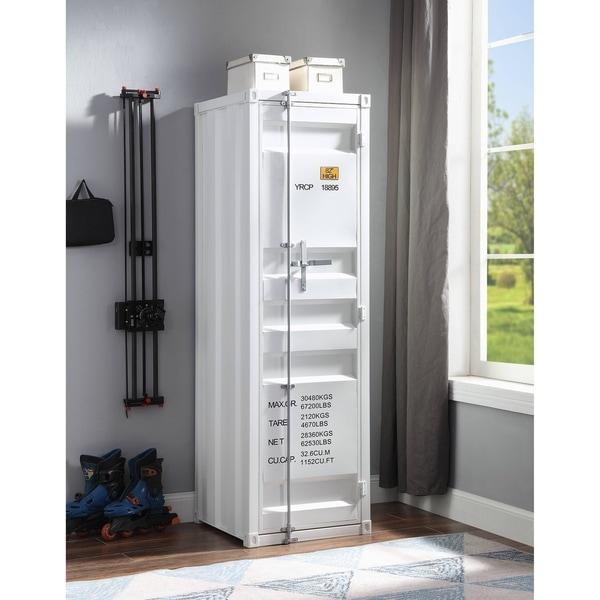 ACME Cargo Wardrobe with 1 Door in White