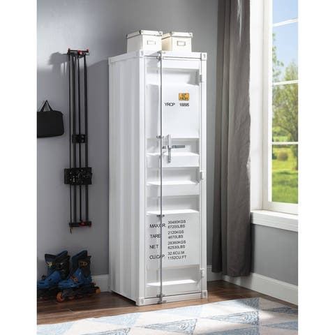 ACME Cargo Wardrobe with 1 Door in White