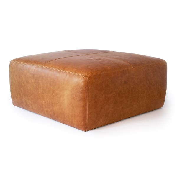 Groovy Shop Strick Bolton Ohannes Tan Leather Ottoman On Sale Ibusinesslaw Wood Chair Design Ideas Ibusinesslaworg