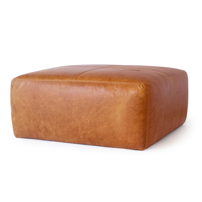Magnificent Strick Bolton Ohannes Tan Leather Ottoman Inzonedesignstudio Interior Chair Design Inzonedesignstudiocom