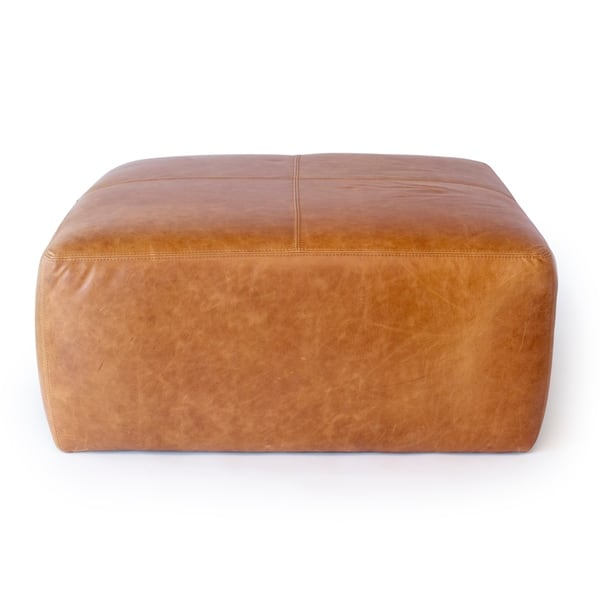 Outstanding Shop Strick Bolton Ohannes Tan Leather Ottoman On Sale Ibusinesslaw Wood Chair Design Ideas Ibusinesslaworg