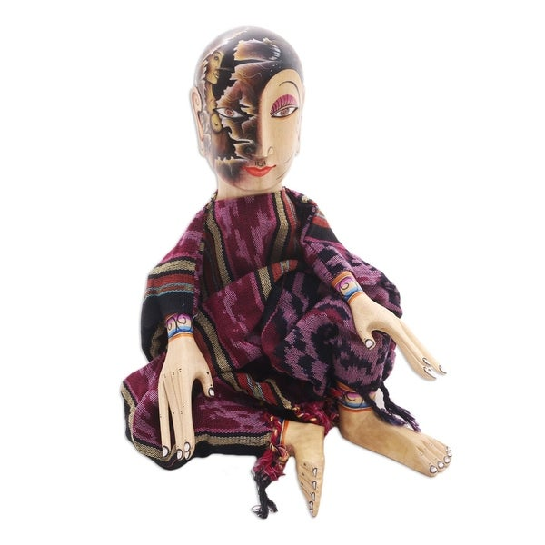 Handmade Under the Black Moon Carved wood display doll(Indonesia)