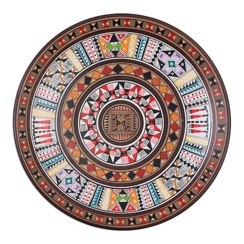 Handmade Inca Iconography Cuzco plate(Peru)