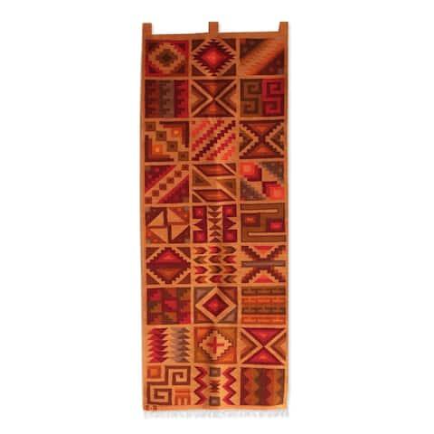 Handmade Calendar of the Inca Wool tapestry(Peru)