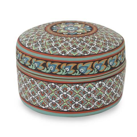 Handmade Thai Bliss Celadon ceramic jewelry box(Thailand)