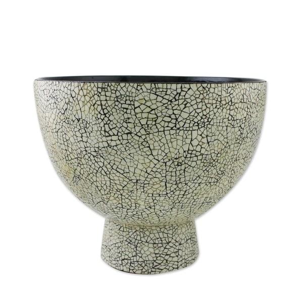 Handmade White Charm Eggshell mosaic centerpiece(Thailand)