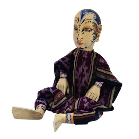 Handmade Mystery Man Wood display doll(Indonesia)