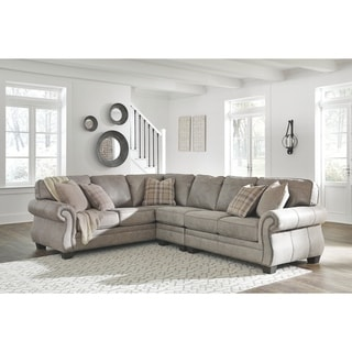 Olsberg 3-Piece Sectional with Left Facing Sofa - Steel