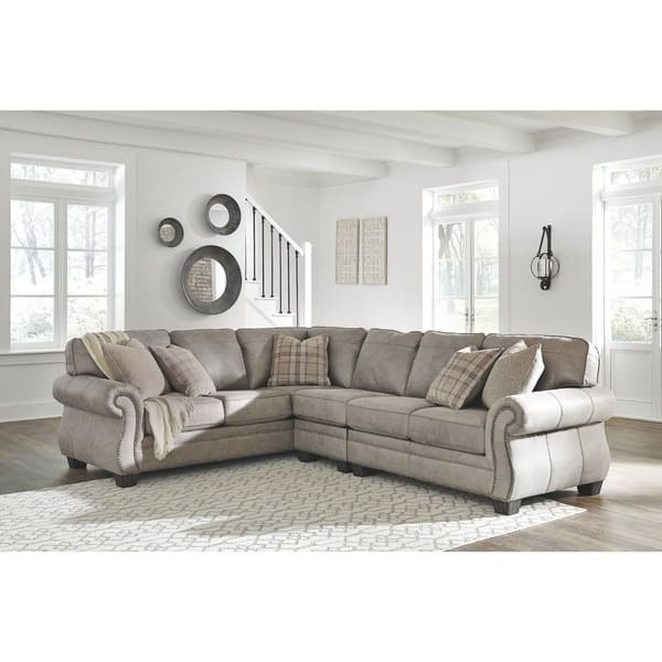Shop Olsberg 3-Piece Sectional with Left Facing Sofa - Steel ...
