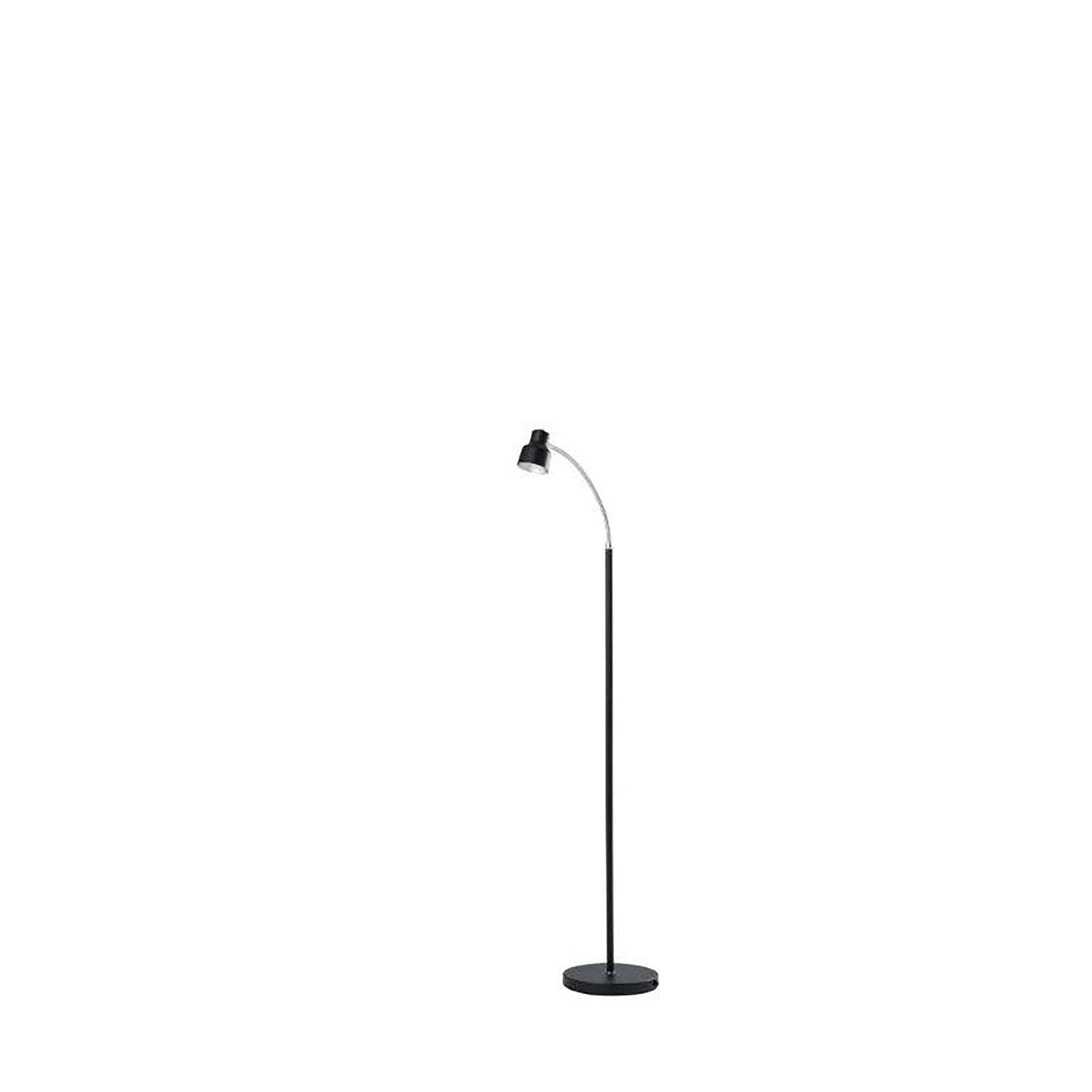 Shop Landri Led Gooseneck Metal Mini Reading Floor Lamp Overstock 28249274