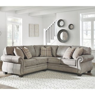 Copper Grove Kharkiv 2-piece Steel Grey Sectional with Right-facing Sofa