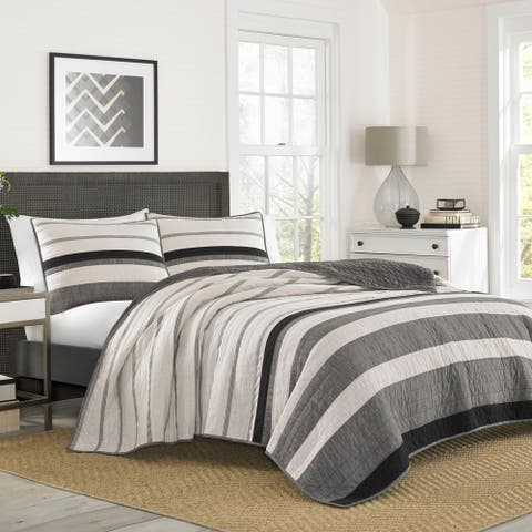 Nautica Kelsall Charcoal Cotton Quilt