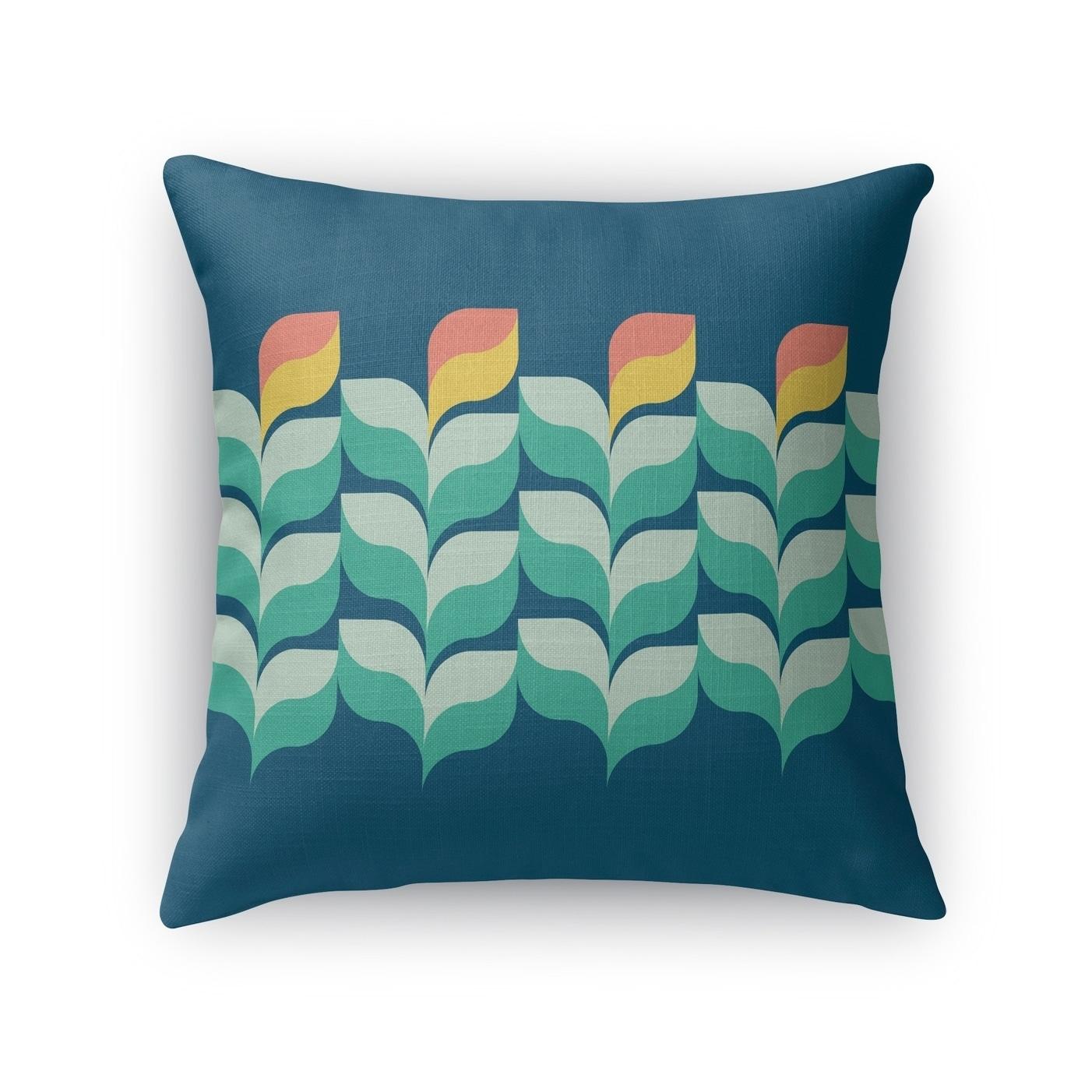 Shop Jardin Blue Accent Pillow By Kavka Designs Overstock 28249385