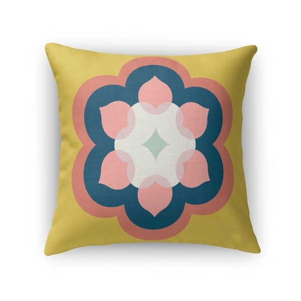 MODERN BLOOM GOLD Accent Pillow By Kavka Designs