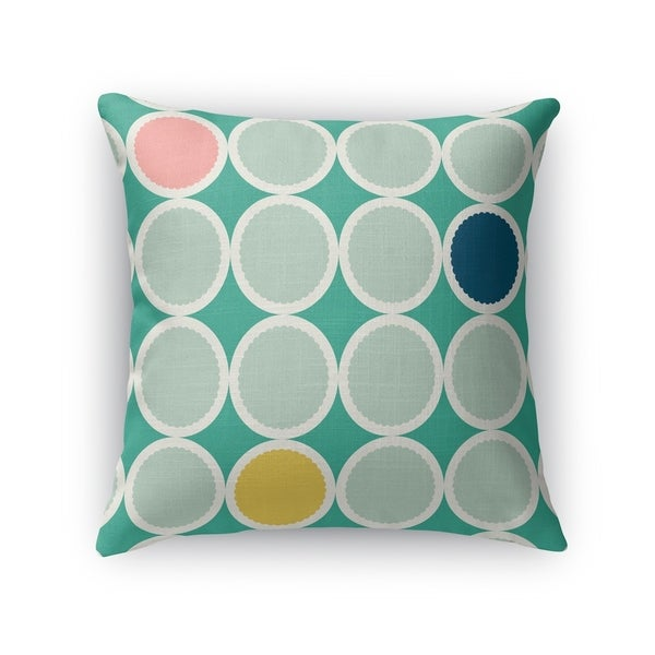 SCALLOPED CIRCLES SEAFOAM Accent Pillow By Kavka Designs
