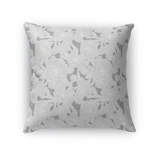 FLOWER POWER GREY Accent Pillow By Kavka Designs