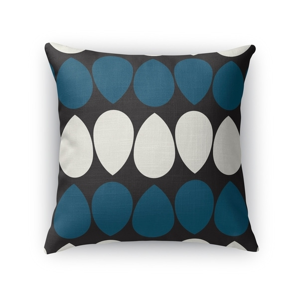 WILMA DARK BLUE Accent Pillow By Kavka Designs