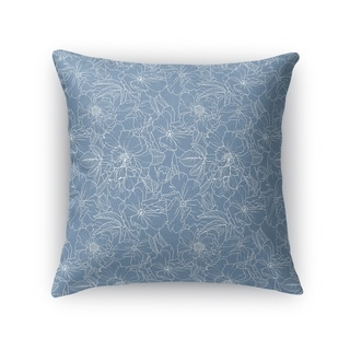 FLOWER POWER BLUE Accent Pillow By Kavka Designs