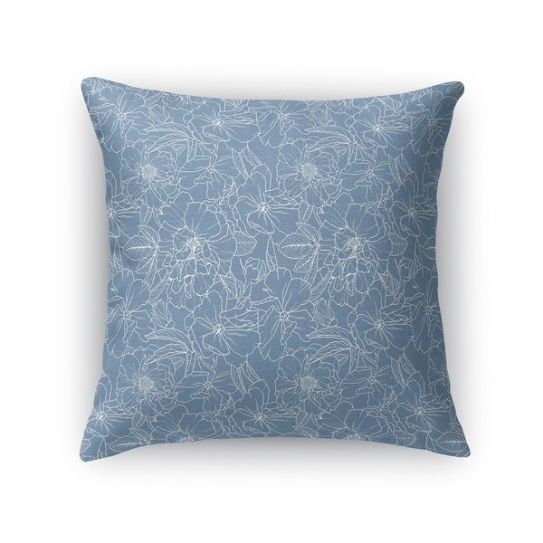 FLOWER POWER BLUE Accent Pillow By Kavka Designs