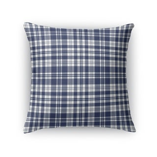 PLAYFUL PLAID NAVY Accent Pillow By Kavka Designs