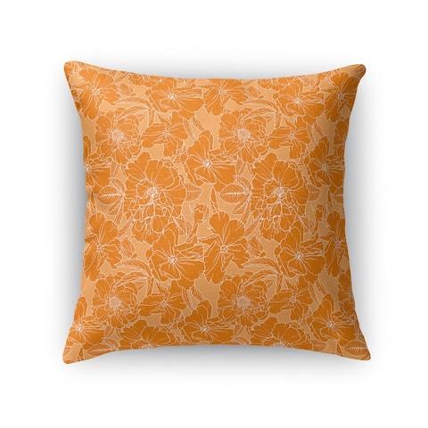 FLOWER POWER ORANGE Accent Pillow by Kavka Designs