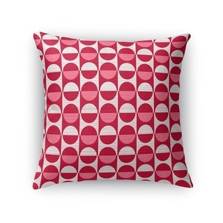 MOD SQUAD RED PINK Accent Pillow By Kavka Designs