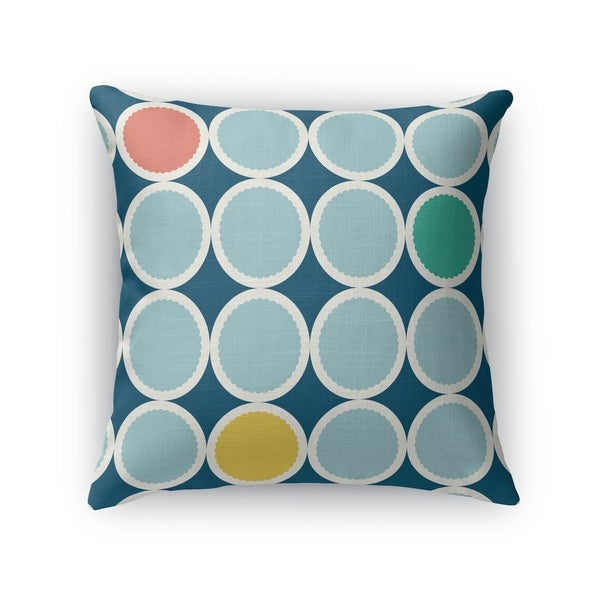 SCALLOPED CIRCLES BLUE Accent Pillow By Kavka Designs