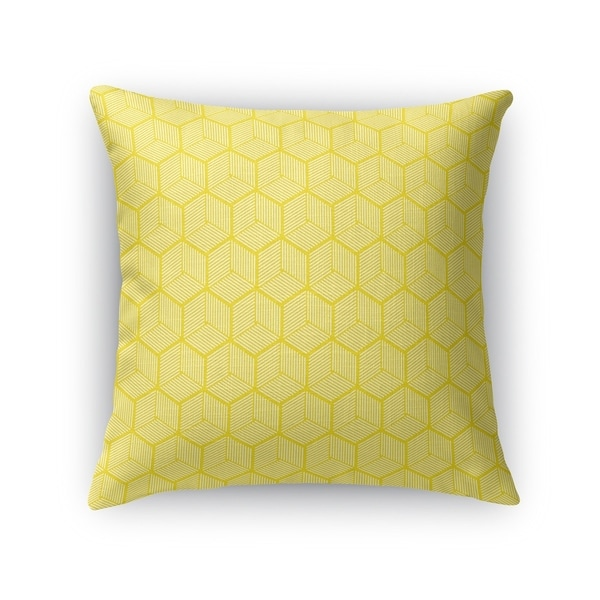 GEOCUBE YELLOW Accent Pillow By Kavka Designs