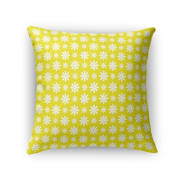 FLOWER SHOWER YELLOW Accent Pillow By Kavka Designs