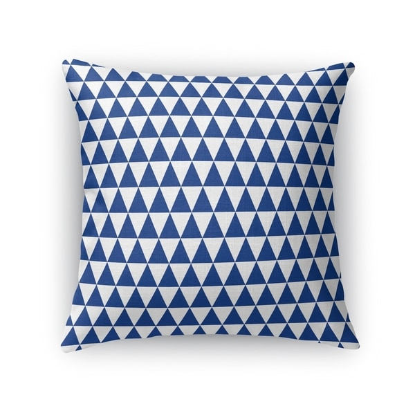 TRIANGLE MAZE BLUE Accent Pillow By Kavka Designs