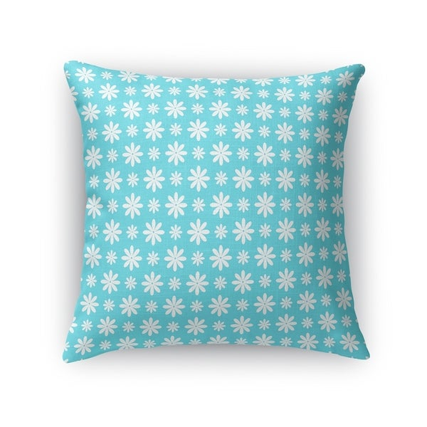 FLOWER SHOWER TEAL Accent Pillow By Kavka Designs