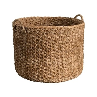 The Curated Nomad Rhenn Handwoven Wicker Banana Leaf Basket