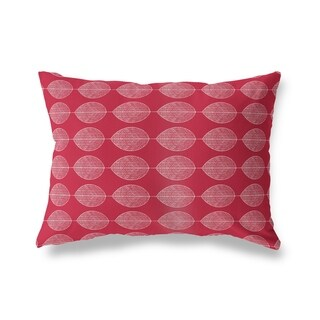 LEAF KEEF RED Lumbar Pillow By Kavka Designs