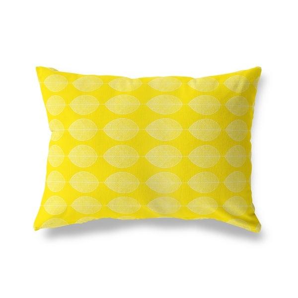 LEAF KEEF YELLOW Lumbar Pillow By Kavka Designs