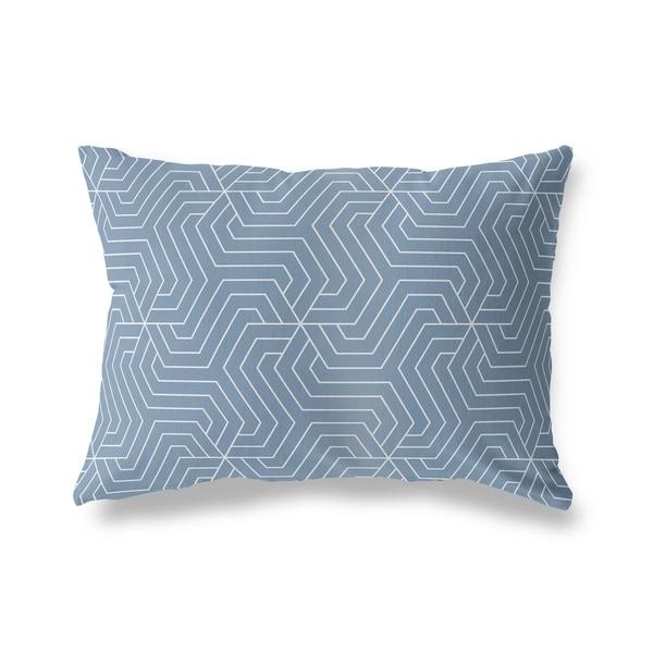 BRICKLE BLUE Lumbar Pillow By Kavka Designs