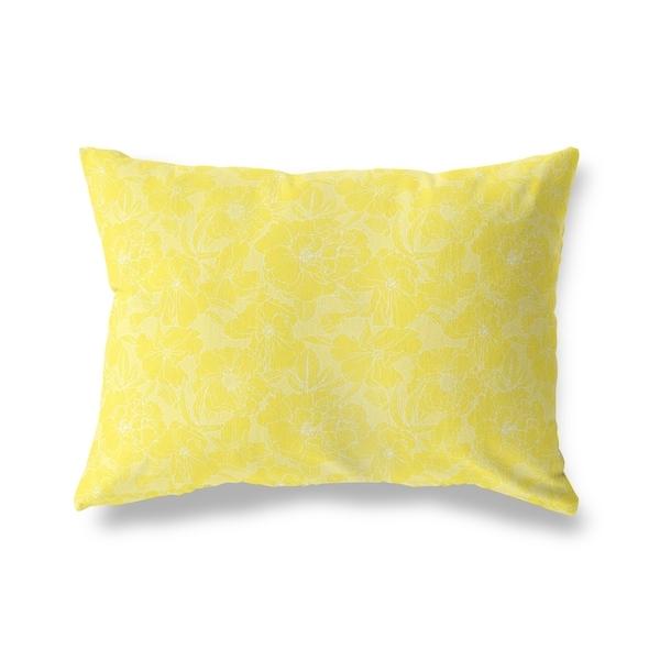 FLOWER POWER YELLOW Lumbar Pillow By Kavka Designs