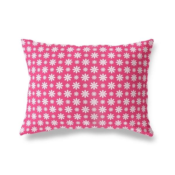 FLOWER SHOWER PINK Lumbar Pillow By Kavka Designs
