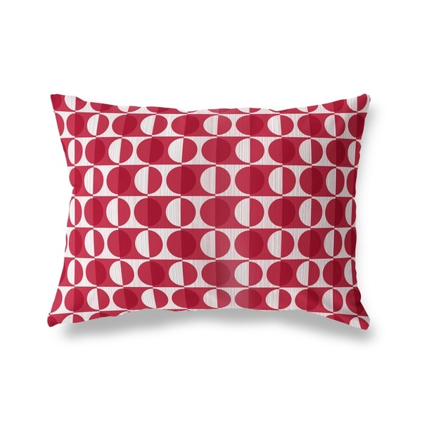 MOD SQUAD RED Lumbar Pillow By Kavka Designs
