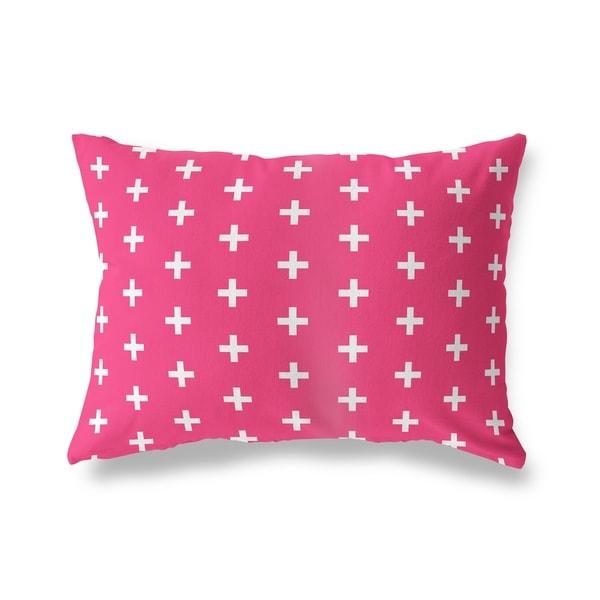 CRISS CROSS PINK Lumbar Pillow By Kavka Designs