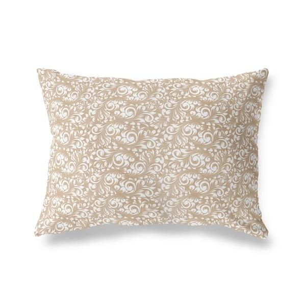 PLUMERIA TAN Lumbar Pillow By Kavka Designs