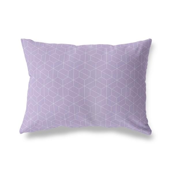 TRON PURPLE Lumbar Pillow By Kavka Designs