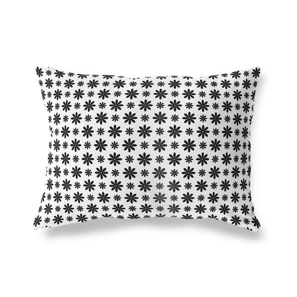 FLOWER SHOWER WHITE Lumbar Pillow By Kavka Designs