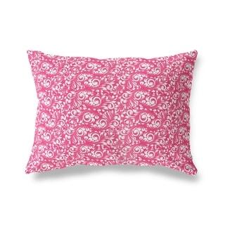 PLUMERIA PINK Lumbar Pillow By Kavka Designs