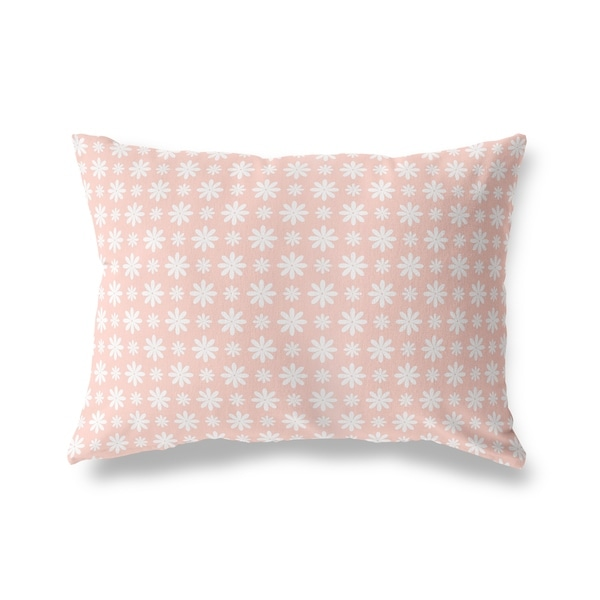 FLOWER SHOWER BLUSH Lumbar Pillow By Kavka Designs