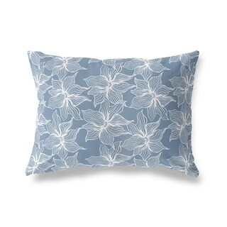 POSEIDON BLUE Lumbar Pillow By Kavka Designs